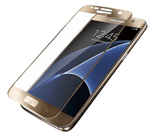 Samsung Galaxy S7 Schutzglas Hartglas,Momko 9H Härte [99% Ultra-klar]-0.26mm-3D Full Coverage Premium Tempered Glass Screen Protector (Samsung Galaxy S7)