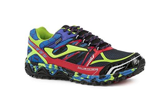 JOMA TK.SIERRA 616 NEGRO-ROYAL-ROJO - Zapatillas de correr en montaña para hombre, color negro-royal, talla