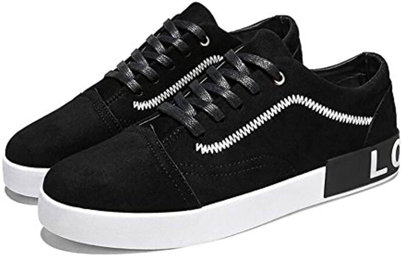 Zapatos de Hombre Trend New Sneakers, Zapatos de Plataforma Casuales de Moda, Punta Redondeada con Cordones Pequeños...