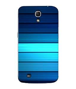 99Sublimation Designer Back Case Cover For Samsung Galaxy Mega 6.3 I9200 :: Samsung Galaxy Mega 6.3 Sgh-I527 Blue Line Horizontal Design