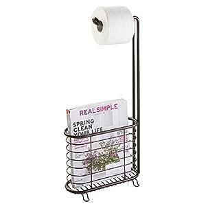mdesign toilettenpapierhalter ohne bohren klorollenhalter f rs badezimmer farbe bronze. Black Bedroom Furniture Sets. Home Design Ideas