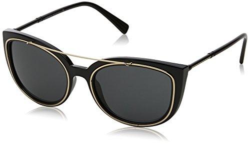 Versace 0ve4336 gb1/87 56, occhiali da sole donna, nero (black/grey)
