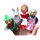 New Baby Toys 4pcs/set Little Red Riding Hood Christmas Animal Finger Puppet Toy Kid Educational Toys Storytelling Doll