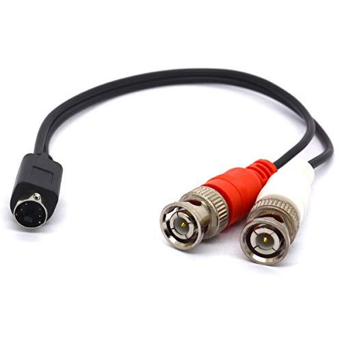 SVHS auf BNC Splitterkabel 4-polig SVHS Stecker auf Dual BNC Buchse Stecker S-Video Adapter S-Video Stecker für CCTV Kameras Verstärker Koaxkabel - Dual S-video