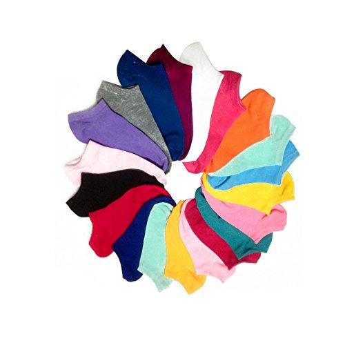 Surker Damen 10 Paar S¨¹?igkeit-Farben-No Show Athletische Socken (ramdon Farbe) CL00102 (10)