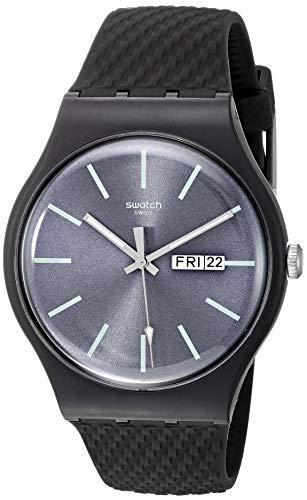 Swatch Orologio Analogueico Quarzo Uomo con Cinturino in Silicone SUOM708