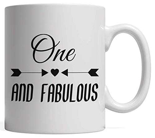 One Fabulous Mug - Funny And Cool Anniversary Gift Idea For 1st Year Old Kids Or Adults Celebrating Their Birthday! For First Yrs Old Born 1 Years Ago Who Love To Party And Celebrate Their B-Day!