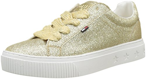 Hilfiger Denim Damen Tommy Jeans Glitter Sneaker, Gold 903, 38 EU