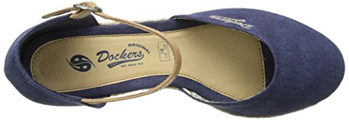 Dockers by Gerli 36is201-706670, Sandali con Zeppa Donna Blu (Dunkelblau 670)