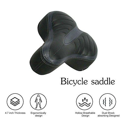 Proline Fahrradsitz - Extra Breit und Gepolstert Fahrradsattel für Männer und Frauen Komfort-Fahrradsitz Ersatz mit Dual Shock Absorbing Ball Breit Fahrradsitz Fahrrad Gel Sitz (Komfort-gel-nasen-kissen)