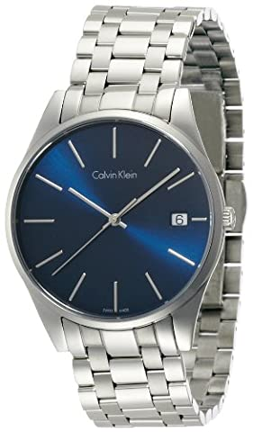 Calvin Klein Men's Quartz Watch with Black Dial Analogue Display Quartz Stainless Steel