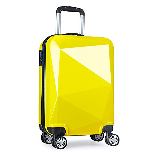 valigie trolley rigide media 20097 M Giallo 68cm Partyprince (Giallo)