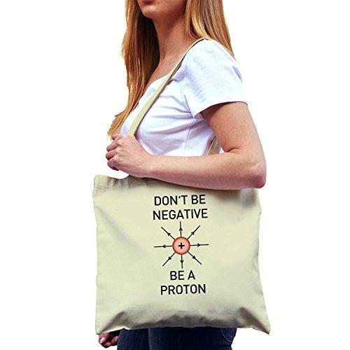 NERDO - Don't be a negative, be a Proton - Stoffbeutel, (Kostüm Chemiker Kinder)