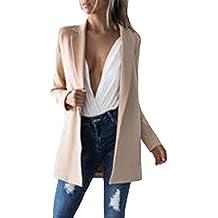 Auxo Femmes Automne Costume élégant Cardigan Slim Bureau Style Veste Manches Longues Blazer Coats