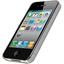 TOOGOO(R) Ultradelgada Hibrida Transparente Funda Cubierta Trasera Rigida de Cristal para Apple iPhone 4 / 4S / 4G