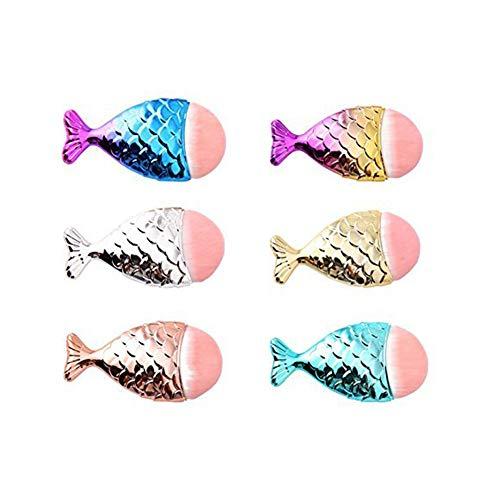 Brocha de maquillaje para mujer colorida sirena