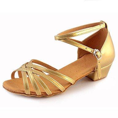 Silence @ Chaussures de danse pour femme Cuir Cuir Paillettes scintillantes Paillettes scintillantes Latin Jazz talons Heelpractice débutant amande