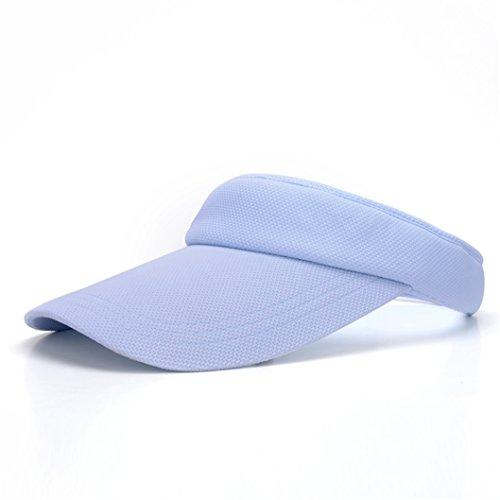 SSZYB*Pas de toit pare-soleil soleil soleil d'été féminins cap cap Outdoor Sports blue