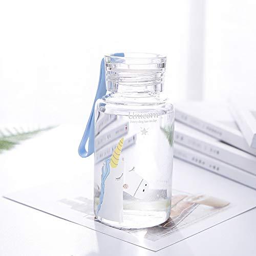 at Karaffe Mit Seil Und Deckel Tragbare Cartoon Flasche Wasser, Tee Zu Trinken ()