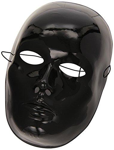 Carnival Toys 00078 - Maske für Erwachsene - schwarzes Gesicht