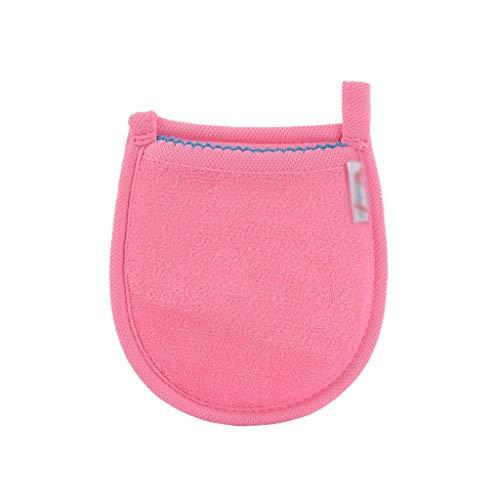 1 pc Visage Serviette Maquillage-Démaquillant Gant Nettoyant Réutilisable Microfibre Femmes Tissu du Visage 5 Couleurs (Color : Pink)