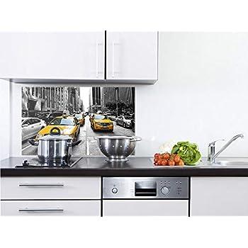 GRAZDesign Rückwand Küche Amerika, Küchen Spritzschutz