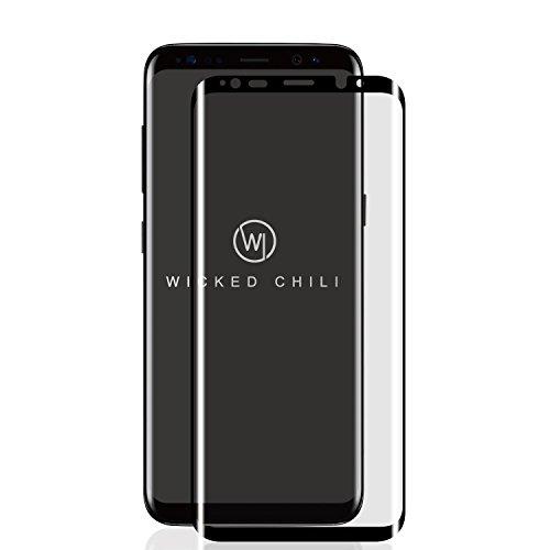 Wicked Chili 3D Panzerglas für Samsung Galaxy S9, staubfreier Displayschutz, Displayschutzglas staubfrei Displayschutzfolie Glas (Anti Fingerprint, Case friendly, kratzfest, inkl. Applikator), Samsung S9 (Case friendly) (3d Cover Case)