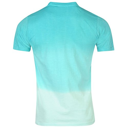 Pierre Cardin Herren Dip Dye T Shirt Kurzarm Rundhals Sommer Freizeit Tuerkis/Mint