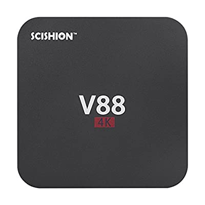 BM V88 TV Box with Android 5.1 Rockchip 3229 Quad-Core(1.5GHZ) Kodi 16.0 Internet Box 4 USB Host Support 4K 10-bit 60fps WiFi Full Loaded(1G/8G )