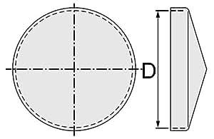 Chapeau rond avec bord galvanisé diamètre 42mm