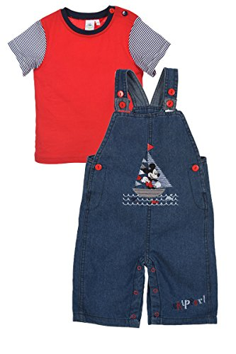 Mickey Mouse bebé-niños Mono + Camiseta