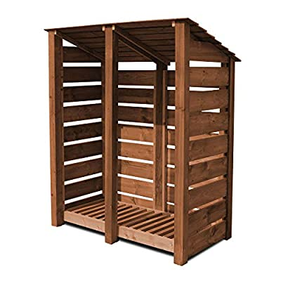 Cottesmore High Wooden Log Store/Garden Storage - Heavy Duty With Pressure Treated Wood