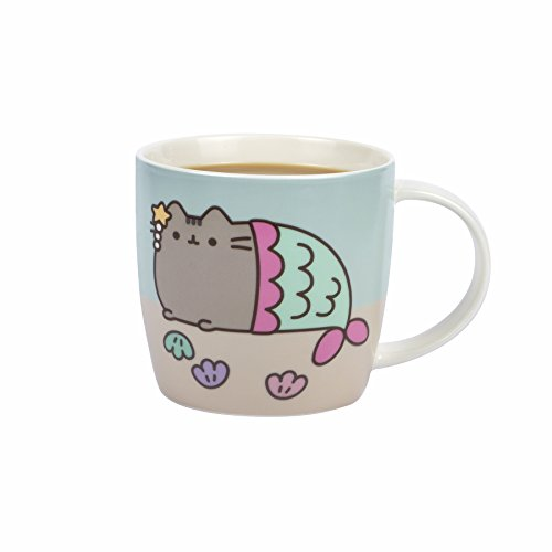 Thumbs Up Taza Cambio de Color Pusheen, cerámica, Blanco, 11.5 x 8 x 8.5 cm