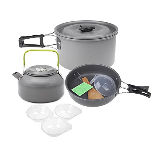Lixada Aluminiumoxid Outdoor Camping Pot Set