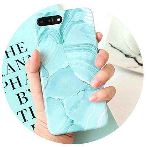 iPhone XR XS Max X 6 6S 7 8 Plus Fashion Graffiti Hellgrün Marmor Cases Weiche IMD Schutzhülle Handy Back Cover, for iPhone 6 6S, Farbe - Großhandel Girls Fashion
