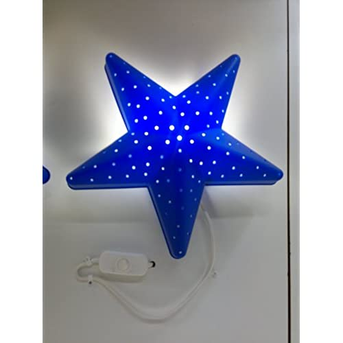 Childrens wall lights amazon ikea children blue star bedroom wall lightlamp mozeypictures Images