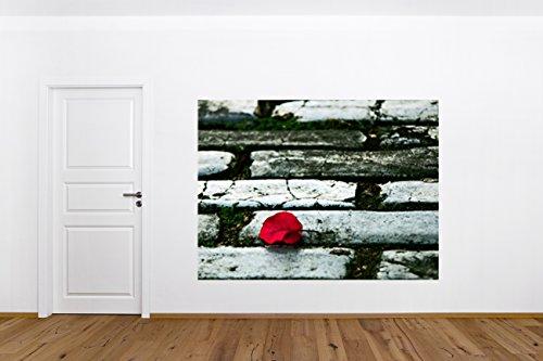 bend Rosenblatt auf der Straße - 130x100 cm - Wandtapete - Poster - Dekoration - Wandbild - Wandposter - Bild - Wandbilder - Wanddeko ()