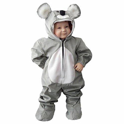 Koala-Bär Kostüm, J42 Gr. 74-80, für Klein-Kinder, Babies, Koala-Kostüme Koalas Kinder-Kostüme Fasching Karneval, Kinder-Karnevalskostüme, Kinder-Faschingskostüme, Geburtstags-Geschenk