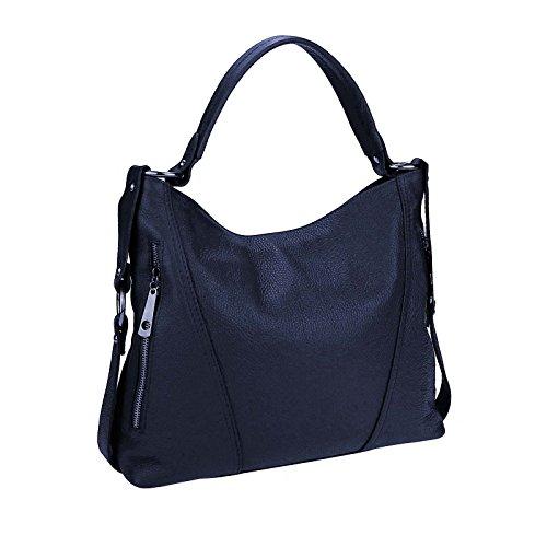 Made Italy , Sac bandoulière pour femme 39x39x9 cm (BxHxT) Bleu - Dunkelblau