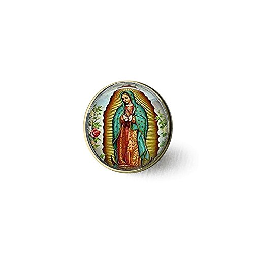 Our Lady of Guadalupe Brosche, Virgin Mary Brosche, religiöse katholischen Art Brosche