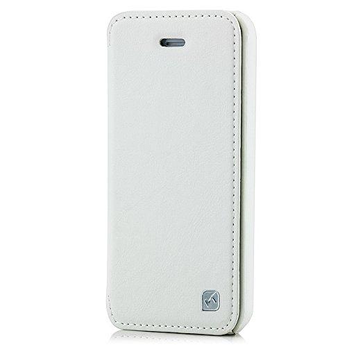 Hoco Flip Tasche für Apple iPhone 5C Slim Case Hülle mit Klappverschluss Weiß Weiß