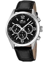 Lotus 18155/2 - Reloj de pulsera hombre, Cuero, color Negro