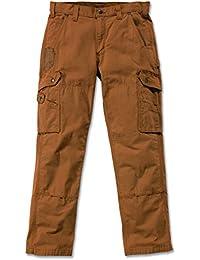 Carhartt Nouveau Pantalon Cargo 100% coton armé Ripstop avec renforts Cordura Nouvelle Coupe - Black - B342 Cotton Ripstop Pant