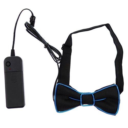 Homyl LED Fliege Schleife Leuchtend Bow Tie Halloween und Cosplay Kostüm Zubehör, Blau/Rosa / Grün - ()