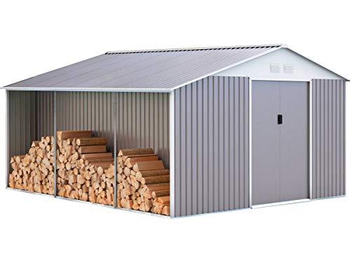 Caseta de Metal Dallas 15,16 m² con leñero
