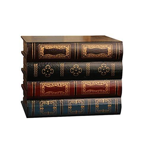 Lucky Family Retro Buchbox Aufbewahrungsbox, Antikes Buch Box Geschenkbox Pappschachtel Dekoration Büro Foto Prop Buch, 161413.5cm
