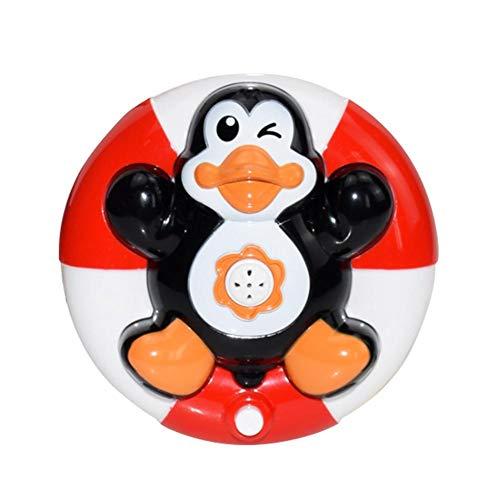 Finelyty Baby Badespielzeug, Elektronische Spray Wasser Spielzeug, Float Drehen Mit Brunnen, Bad Dusche Spielzeug Für Baby (Pinguin Elefant Schildkröte Boot) (Baby-bad-spielzeug Elegante)
