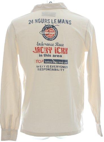 Jacky Ickx Herren Polo Shirt Longsleeve -24 Hours Le Mans- Ecru