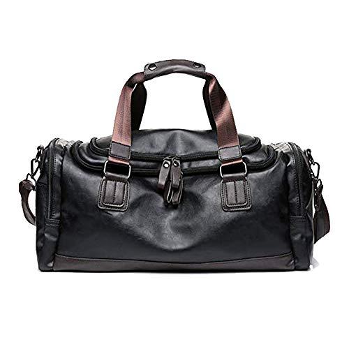 Tasche für Männer Fitness-Tasche Umhängetasche Männer Handtasche PU Leder Große Kapazität Reisetasche