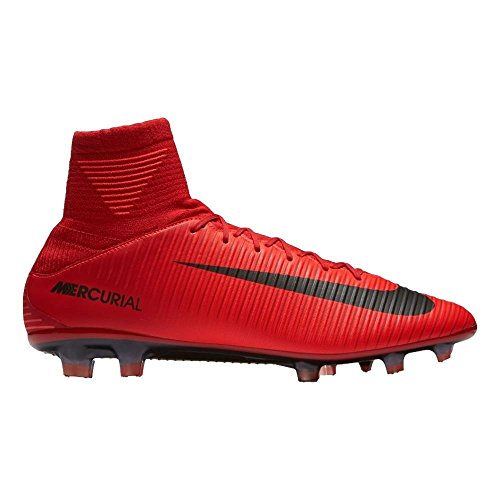 Nike Fußballschuh MERCURIAL VELOCE III Dynamic Fit FG Ground Stollen Fußball Stiefel Erwachsener 42.5(Hartböden, Erwachsener, männlich, Sohle mit Dübel, schwarz, rot, Einfarbig) (Erwachsener Fußball-ausrüstung)